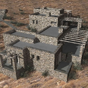Complex of 2 stone houses in Serifos