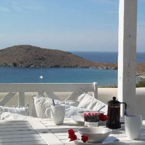 House with stunning view in Delfini